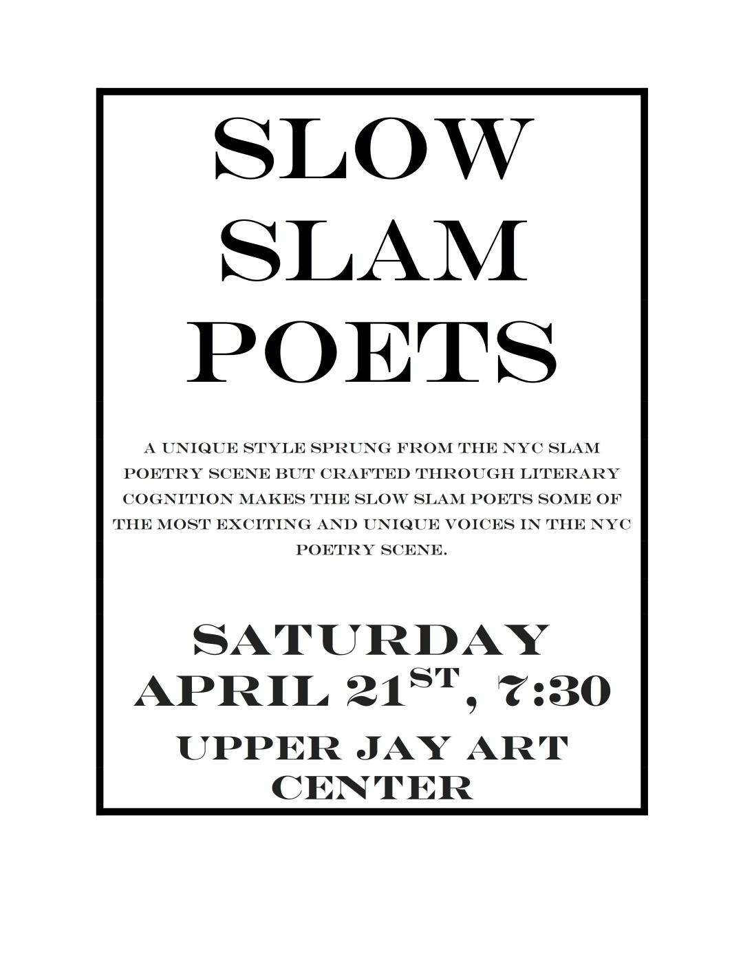 Slow Slam Poets